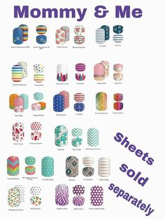 Want to match with your daughter for Mother's Day?  That can be arranged--check out our coordinating sets!  kerriberry.jamberry.com #mommyandme #mothersday #nails #fashion   #style #littlegirlsnails