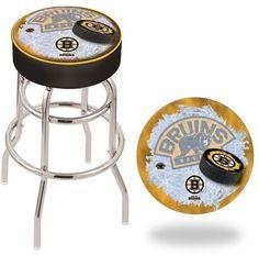 Boston Bruins NHL D2 Retro Chrome Bar Stool