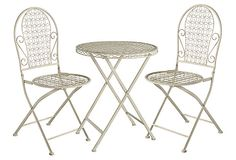 Mila 3-Piece Bistro Set, Beige on OneKingsLane.com
