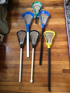 Vintage Mini Lacrosse Stick Collection Lot (6) Brine Warrior Pro-Gard ~ nice! #Brine