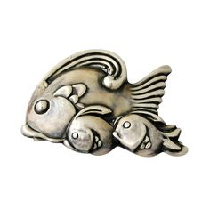 Los Castillo Taxco Sterling Silver Dimensional Fish Motif Brooch 1960 at Bird Jewelry, Animal Jewelry, Jewelry Art, Antique Jewelry, Vintage Jewelry, Jewelry Design, Do It Yourself Fashion, Mexican Jewelry, Sterling Silver Jewelry