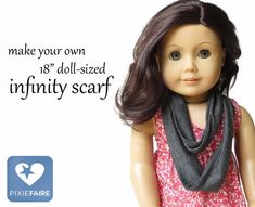 free tutorial! Make a fun, easy, doll-sized infinity scarf -- it only takes three seams and a scrap of fabric!