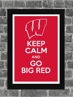 Keep Calm Wisconsin Badgers NCAA Print Art 11x17 by KCPrinting, $14.99