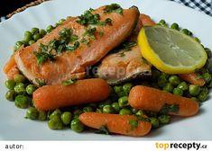 Pstruh lososovitý s bylinkami a máslovou zeleninou recept - TopRecepty.cz Fish, Meat, Foods, Food Food