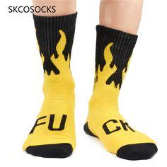 SESY Skull Flaming Unisex Crew Socks Short Sports Socks.