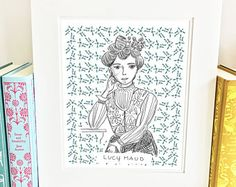 Lucy Maud Montgomery print from The Legacy Collection by Carrot Top Paper Shop. Illustrations by Jenny Williams.