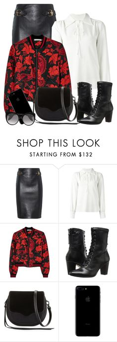 """""""Untitled #1560"""" by ebramos ❤ liked on Polyvore featuring Moschino, See by Chloé, Alice + Olivia, Johnston & Murphy, Rebecca Minkoff and Alexander McQueen"""