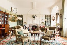Standen House - The carpet in the drawing room was produced by Morris & Co's Merton Abbey Factory.