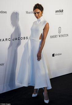 Victoria Beckham looks statuesque at the amfAR gala in Hong Kong #dailymail
