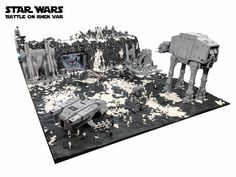Battle on Rhen Var from Star Wars: Battlefront recreated with 250,000 LEGO bricks | The Brothers Brick | LEGO Blog