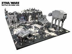 Battle on Rhen Var from Star Wars: Battlefront recreated with 250,000 LEGO bricks
