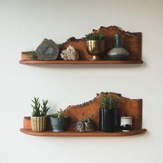 Live edge shelf.