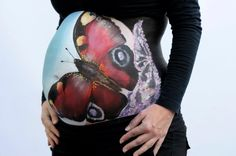 Butterfly belly paint