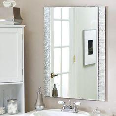 Décor Wonderland Frameless Molten Wall Mirror - 23.5W x 31.5H in. - SSM5039