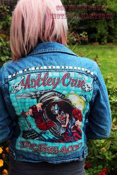 Motley Crue Rock N Roll denim jacket on Etsy, $69.00