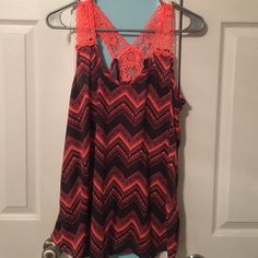 Aztec & Lace Tank Top Adorable top that goes great with all your summer outfits! Rue 21 Tops Tank Tops