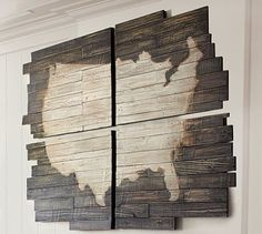 Planked USA Panels from Pottery Barn. Saved to Decor. Shop more products from Pottery Barn on Wanelo. Home Living, My Living Room, Pottery Barn, Pottery Shop, Pallet Furniture Designs, Pallet Designs, Furniture Styles, Furniture Ideas, Palette Diy