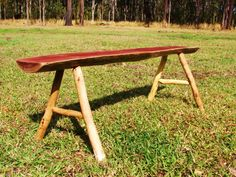 bench with roundwood
