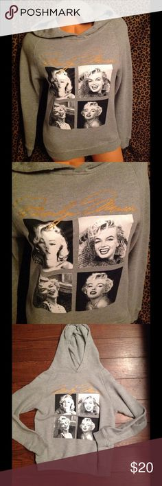 Marilyn Monroe Hoodie S! Marilyn Monroe hoodie missing tie string used condition!! Tops Sweatshirts & Hoodies