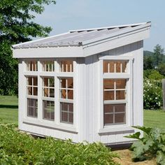 Oh my Gosh! (too expensive, too small?) PUT ON SIDE OF COTTAGE! (Where picnic table is now) Measures x x feet Little Cottage Petite Greenhouse with Floor Kit Little Cottages, Beach Cottages, Petits Cottages, Outdoor Spaces, Outdoor Living, Home Greenhouse, Greenhouse Ideas, Greenhouse Wedding, Underground Greenhouse
