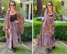 12 Ways to Rock Your Kimono - Ask Suzanne Bell White Kimono, Silk Kimono, Wrap Dress, Dress Up, Japanese Kimono, Kimono Fashion, Long Cardigan, White Tank, Summer Looks