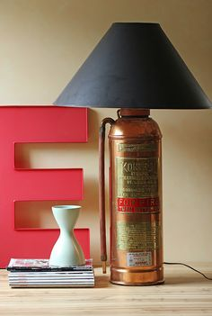 Re-purposed Vintage Fire Extinguisher Lamp | Shared by LION
