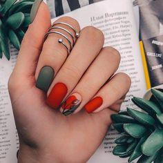 71 Fall Nail Designs to Fall in Love with: Fall Nails to Inspire - Makeup & nail. 71 Fall Nail Designs to Fall i. Dream Nails, Love Nails, My Nails, Nail Manicure, Pedicure, Nail Polish, Nagellack Design, Nagellack Trends, Minimalist Nails