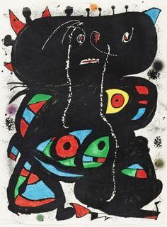 """Joan Miró Litografía sobre papel Japón nacarado """"Hommage Aux Prix Nobel"""" Año: 1976 Dimensiones: 76 x 56.5 cm Tirada de 100 ejemplares Numerada HC II/XXXIII y firmada a mano Certificado del editor Maeght 1094. Cramer 224 Precio: Consultar Web  Web: www.grabadosylitografias.com Más información y consultas: galeria@grabadosylitografias.com"""