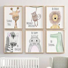 Safari Nursery Decor, Animal Nursery Printa, Quote Nursery Print, Peekaboo Nursery, Safari Animal, Safari Nursery, Neutral Nursery Prints
