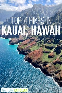 Explore Kauai (The Garden Island) a different way - by foot! These top hikes in Kauai, Hawaii are breathtaking due to the majestic trails and million dollar views. Hawaii Travel Guide, Maui Travel, Travel Usa, Hawaii Hikes, Kauai Hawaii, Oahu, Kauai Vacation, Hawaii Honeymoon, Honeymoon Places