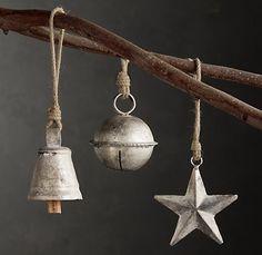 Rustic ornaments- Restoration Hardware