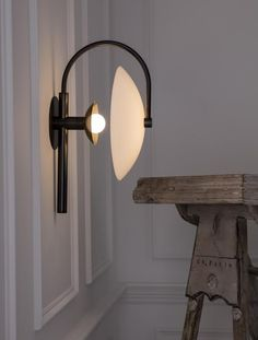 New York lighting studio Allied Maker has launched a new collection, featuring an exclusive Alabaster totem light, a range of wall sconces and a table lamp. Tall Lamps, Brass Lamp, Unique Lamps, Vintage Lamps, Home Interior, Wall Sconces, A Table, Light Fixtures, Designer