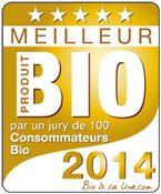 """Bio à la Une est fier de vous présenter les lauréats 2014 des Meilleurs Produits Bio ! Les Français ont voté, les résultats sont dévoilés. Le jury a testé, goûté et noté des produits de grande consommation bio et des produits écologiques. Au final, 48 produits sur 57 ont été évalués positivement et reçoivent le précieux sésame du """"Meilleur Produit Bio 2014"""".  Voir les produits : http://www.meilleurs-produits-bio.com/"""