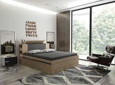Postel TULON 90x200 cm dub sonoma/grafit | FH nábytek Bed, Furniture, Home Decor, Decoration Home, Stream Bed, Room Decor, Home Furnishings, Beds, Home Interior Design