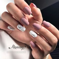 """If you're unfamiliar with nail trends and you hear the words """"coffin nails,"""" what comes to mind? It's not nails with coffins drawn on them. It's long nails with a square tip, and the look has. Cute Acrylic Nails, Matte Nails, Pink Nails, My Nails, Purple Nail, Matte Pink, Autumn Nails Acrylic, Squoval Acrylic Nails, Blush Nails"""