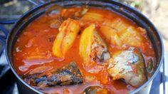 kimchi camping stew