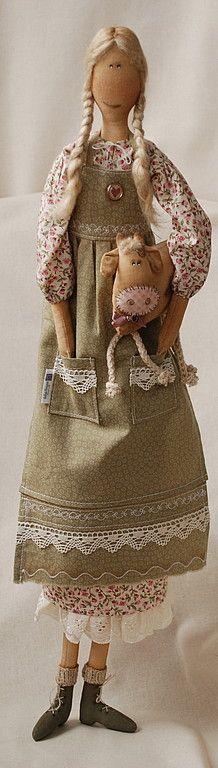 Ароматизированные куклы ручной работы. Ярмарка Мастеров - ручная работа Девочка с коровой. Handmade.