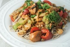 Healthy Peanut Noodles with Chicken