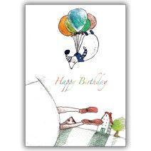 Kunterbunte Geburtstagskarte: Happy Birthday