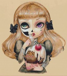 Modern cross stitch kit ' Sweet Loneliness  ' by by GeckoRouge, $87.00