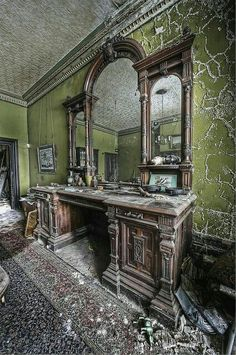 Architecture - Abandoned Places - This house has been abandoned for decades and is filled with treasures, from ID cards to magazines dating back to the queens coronation. Its like the occupant just left. Look at the beauty