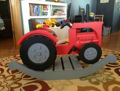 Wooden Rocking Tractor Handmade Children S Gift 239