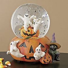 Ghost Pumpkin Music Box