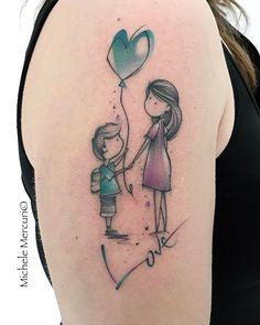 • L O V E • #tattoo #tattoos #tattooart #familytattoo #lovetattoo #mothertattoo #sketchtattoo #sontattoo #colortattoo #hearttattoo #ink…