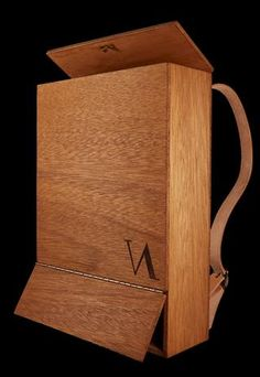 """""""THE BOX"""" WOODEN BACKPACK"""