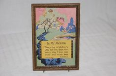 Art Deco vintage mother's motto print Buzza 1927 by vintagetwice, $25.00