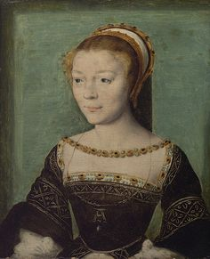 Anne de Pisseleu (1508–1576), Duchesse d'Étampes  Attributed to Corneille de Lyon (Netherlandish, active by 1533, died 1575)  Oil on wood    7 x 5 5/8 in. (17.8 x 14.3 cm)  H. O. Havemeyer Collection, Bequest of Mrs. H. O. Havemeyer, 1929 (29.100.197)
