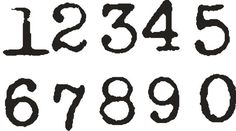 Old Typewriter font NUMBERS set 1 inch and one by stampoutonline, $15.00