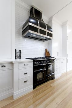 Customer rangehood and Falcon Classic double oven Kitchen Oven, Kitchen Cabinets, Induction Range Cooker, Range Hoods, My House, Storage, Classic, Kitchen Ideas, Kitchens