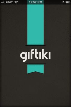 launch screen on Giftiki. font